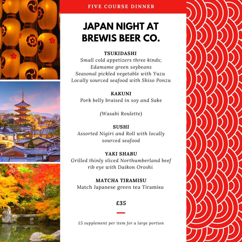 Japanese food Japan night at Brewis Beer Amble